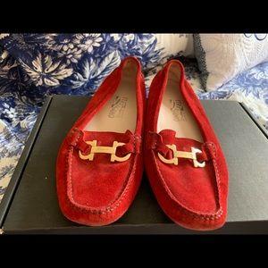 Salvatore Ferragamo Shoes - Red driving shoes